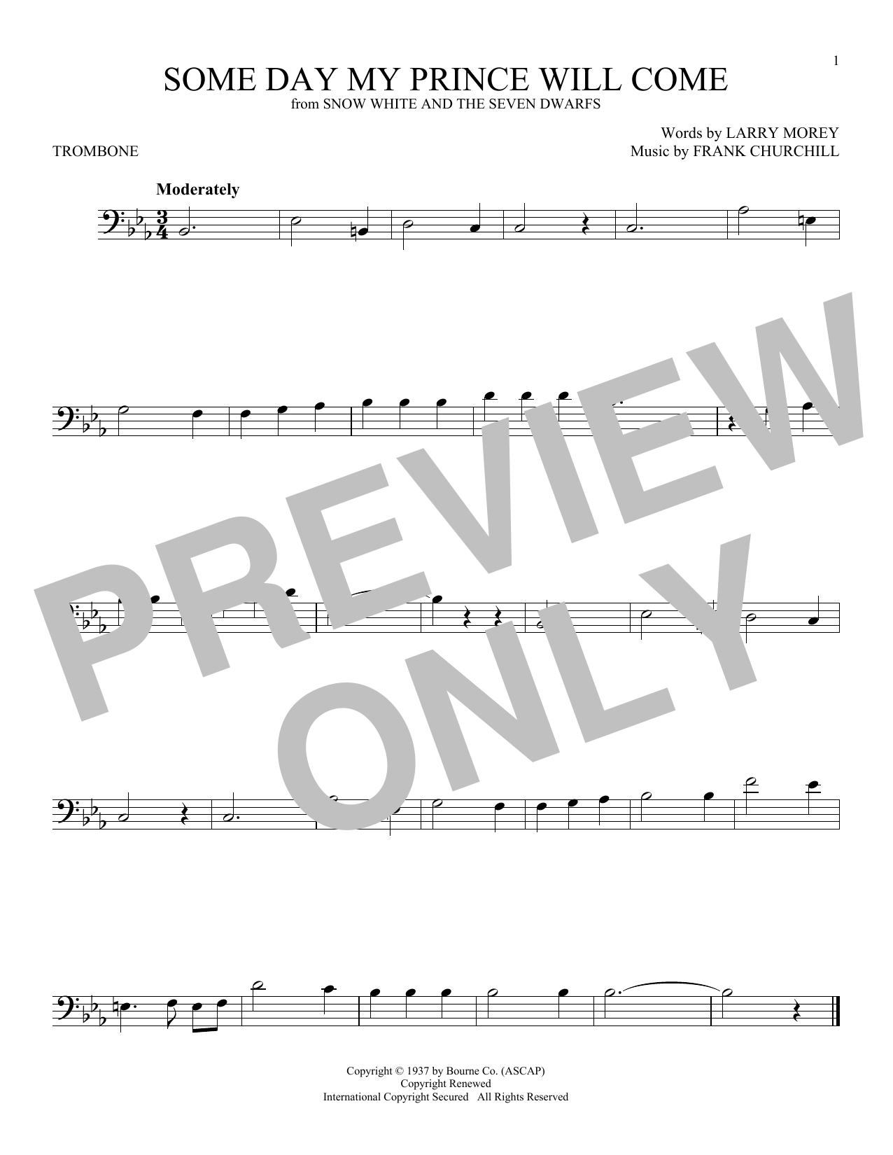 New Piano Sheet Music On Modern Score Frank Churchill Some Day My Prince Will Come Partition Trombone 2 00 Partitio Partition Guitare Chorale Guitare