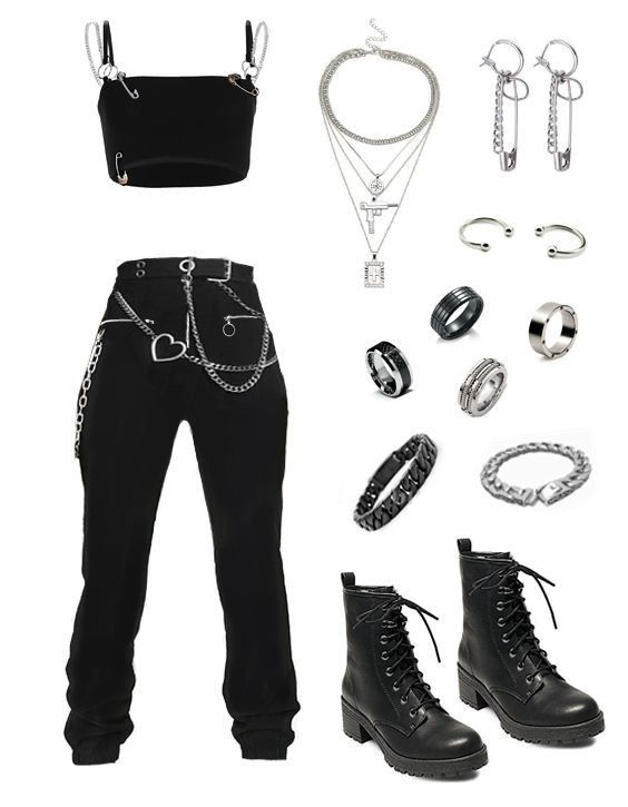Pin By Caterine Leon On My Style Ii Retro Outfits Kpop Fashion Outfits Grunge Outfits