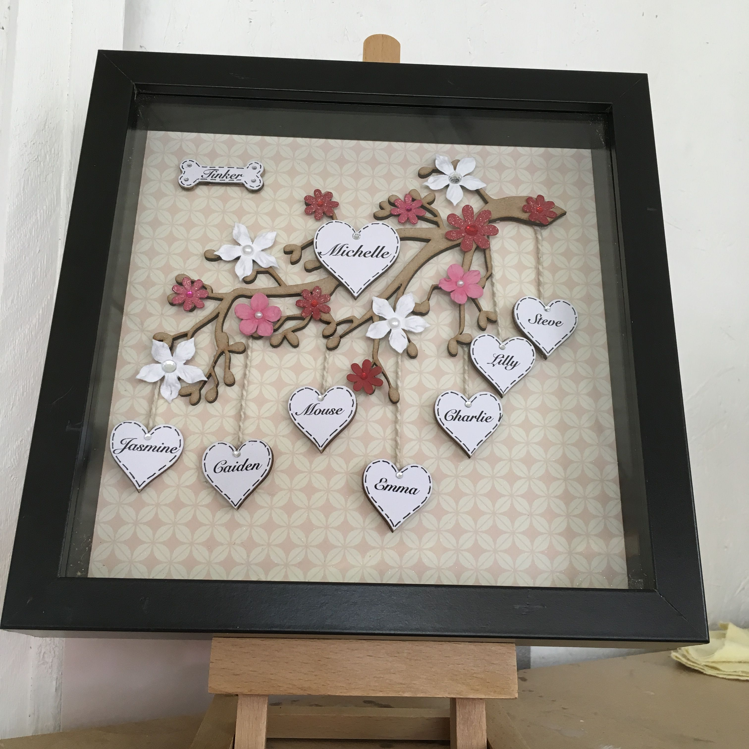 Family not always connected by blood but heart strings by taz frame crafts family not always connected by blood but heart strings by taz jeuxipadfo Choice Image
