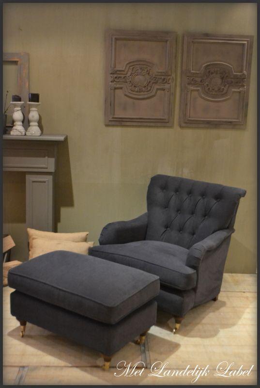 Landelijke fauteuil met capitonneerde rug bij met landelijk label in borne kunt u deze - Gordijnen landelijke stijl chique ...