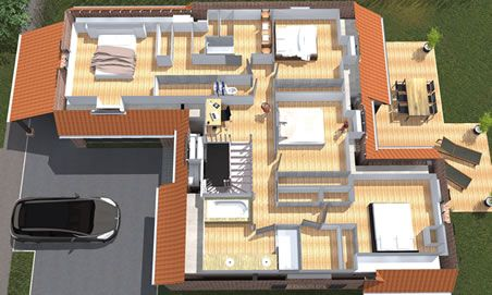 Plan construction maison 3d plan maison 3D Pinterest Nord pas - construction de maison en 3d