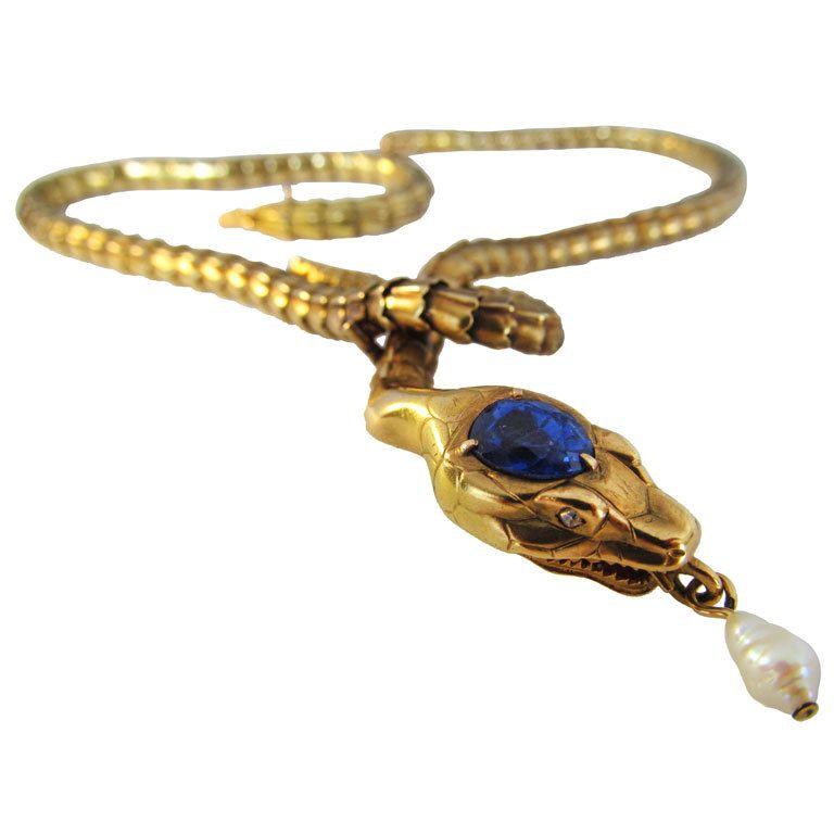 Elegant Articulated Gold Snake Necklace Dreams Pinterest
