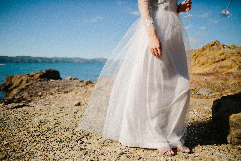 Boho wedding dress tulle beaded lace beach wedding auckland