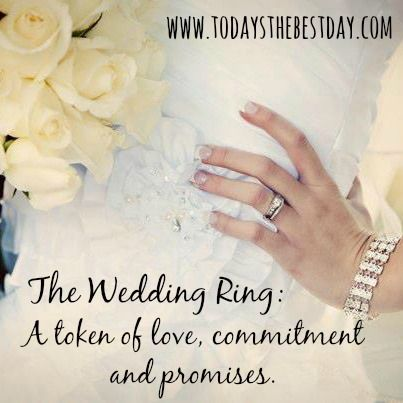Cool The Wedding Ring A token of love mitment and promises What Does
