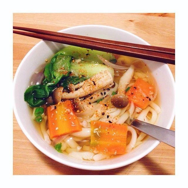 Homemade Udon.  暖暖 暖暖 。 #丹琦煮廚 #烏龍麵 #Udon #Homemade