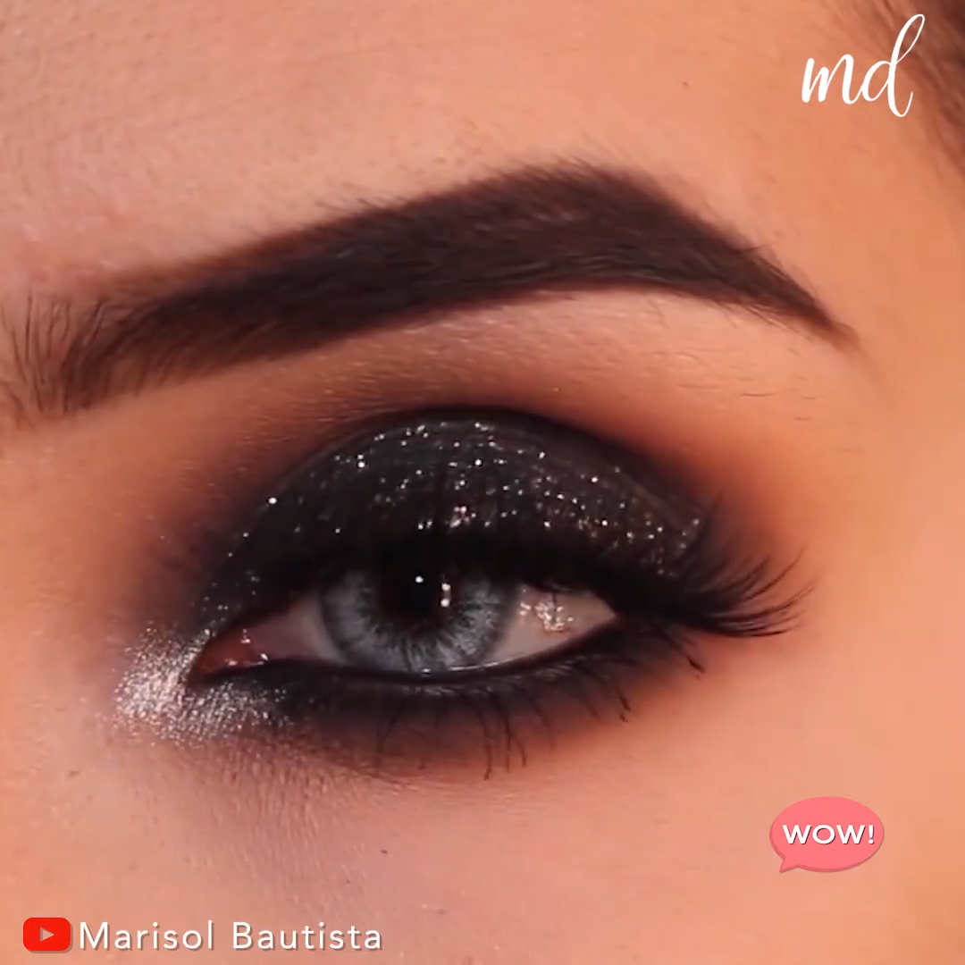 EID BLACK SMOKEY EYE MAKEUP LOOK TUTORIAL