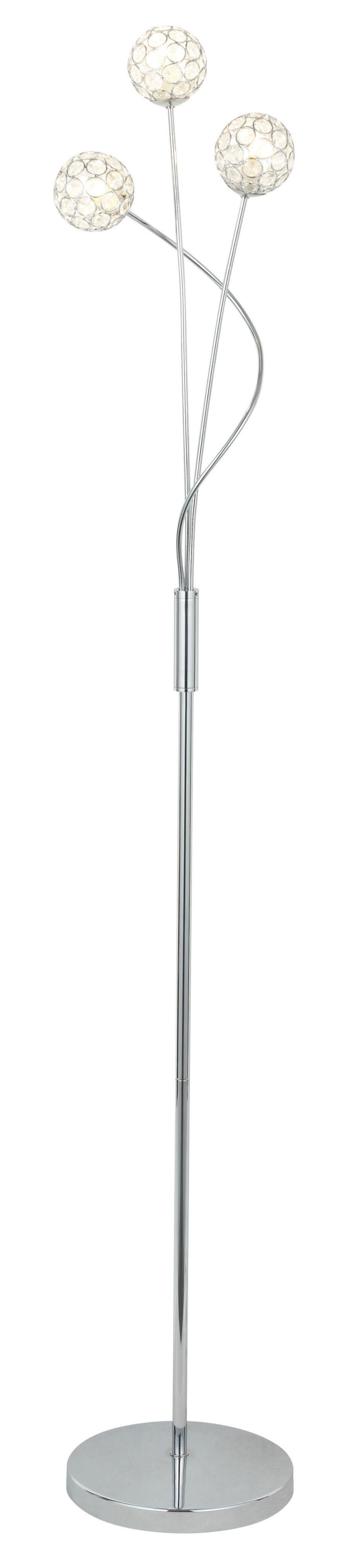 Lopez Crystal Circle Chrome Effect Floor Lamp | Departments | DIY at ...