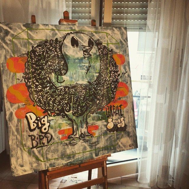Big bird great songs... #art  #illustration  #drawing  #draw  #bird  #picture  #artist  #sketch  #sketchbook  #paper  #pen  #pencil  #artsy  #instaart  #acrilic  #instagood  #gallery  #masterpiece  #creative  #photooftheday  #instaartist  #graphic  #graphics  #artoftheday