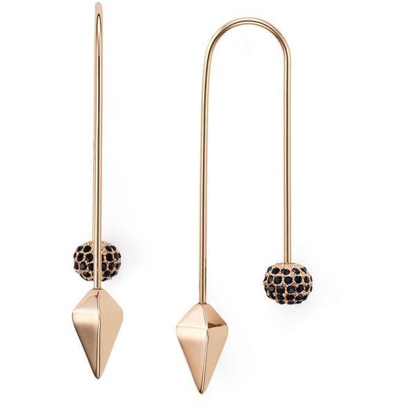 Rebecca Minkoff Feather Threader Earring in Metallic Gold DxZ3CyvP