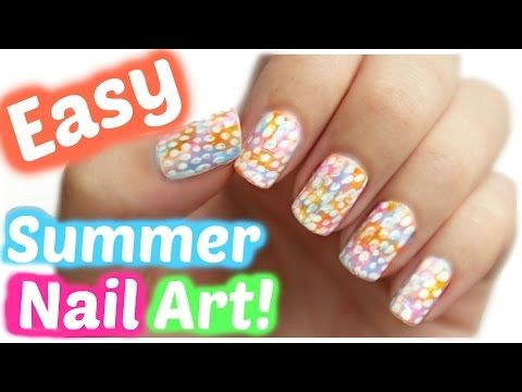 Summer Nail Art No Tools Needed Jennyclairefox Youtube