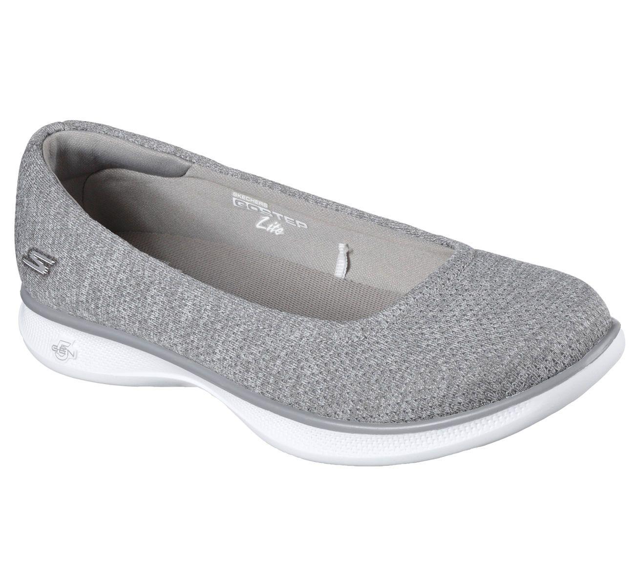 14479 Gray Skechers shoes Go Step Women Casual Comfort Walk Slip On Jersey  Knit