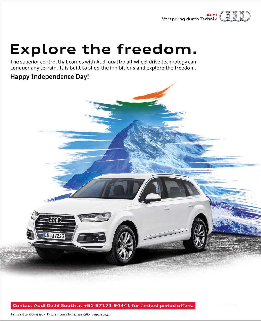 Audi Delhi South Wishes You All A Happy Independence Day Audi - Day audi