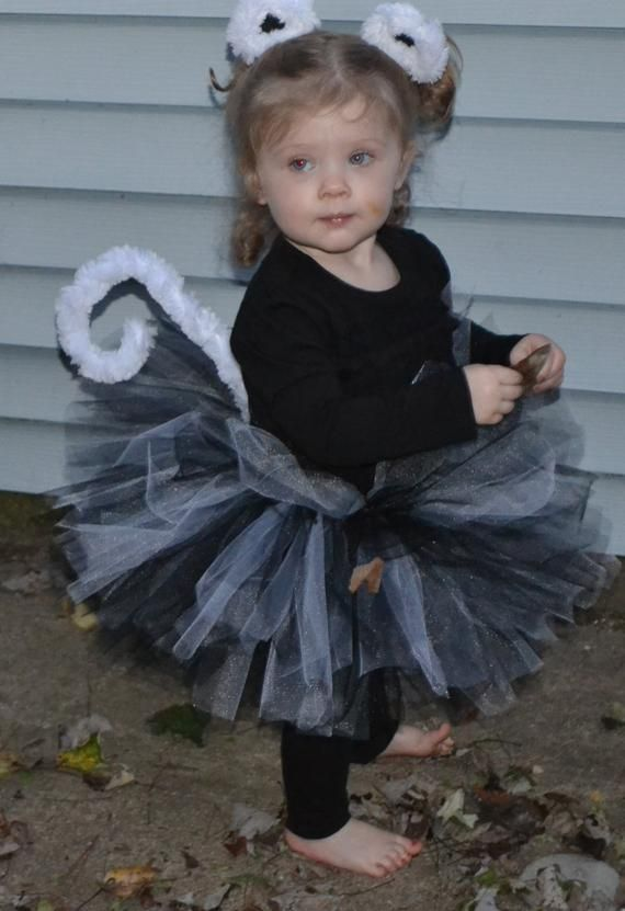 a48152b032f1 Black and White Cat Costume - Halloween Toddler Costume - Includes Tutu,  Ears, and Tail.