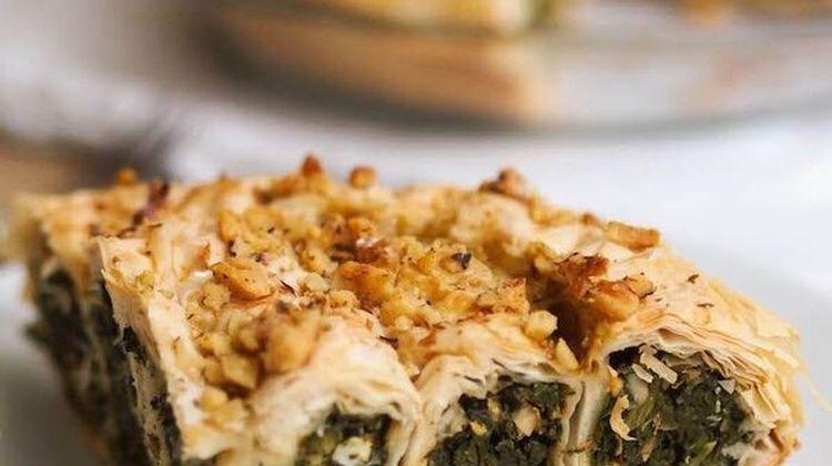 Spinach, Feta and Walnut Phyllo Pie