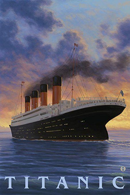 Titanic - White Star Line (9x12 Art Print, Wall Decor Travel Poster ...