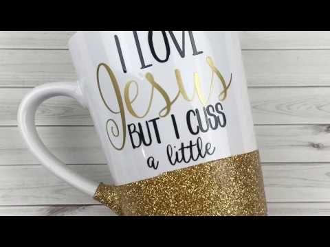 Diy How To Make A Glitter Mug Dishwasher Safe Ali Coultas Youtube Sharpie Coffee Mugs Glitter Diy Coffee Cups Diy