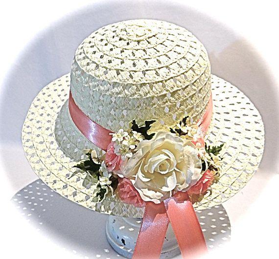 Girl's Easter Bonnet Tea Party Hat Flower Girl Hats GH-121 #hatflower