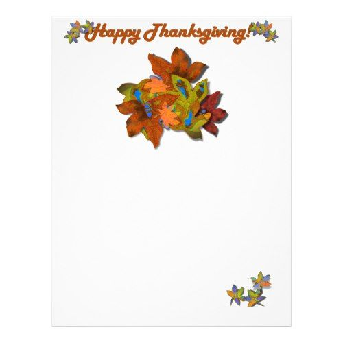 Fall Leaves On Blue Flyer   Thanksgiving Ideas
