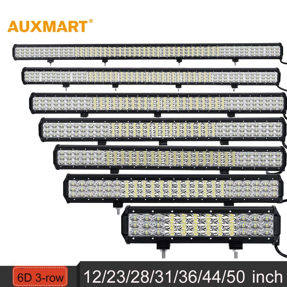Auxmart 12 23 28 31 36 44 50 6d Row đen Led Bar Combo Beam Offroad Cong Việc Nhẹ 12 V 24 V Suv Atv 4x4 4wd Trail With Images Bar Lighting Led Light Bars Work Lights