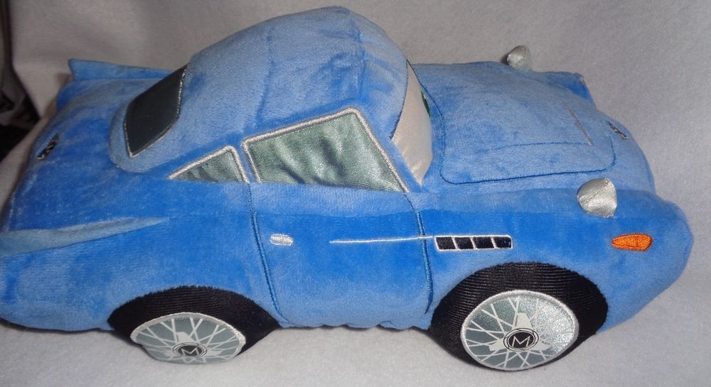 Rare Disney Store Pixar Cars Movie Plush Stuffed Finn Mcmissile