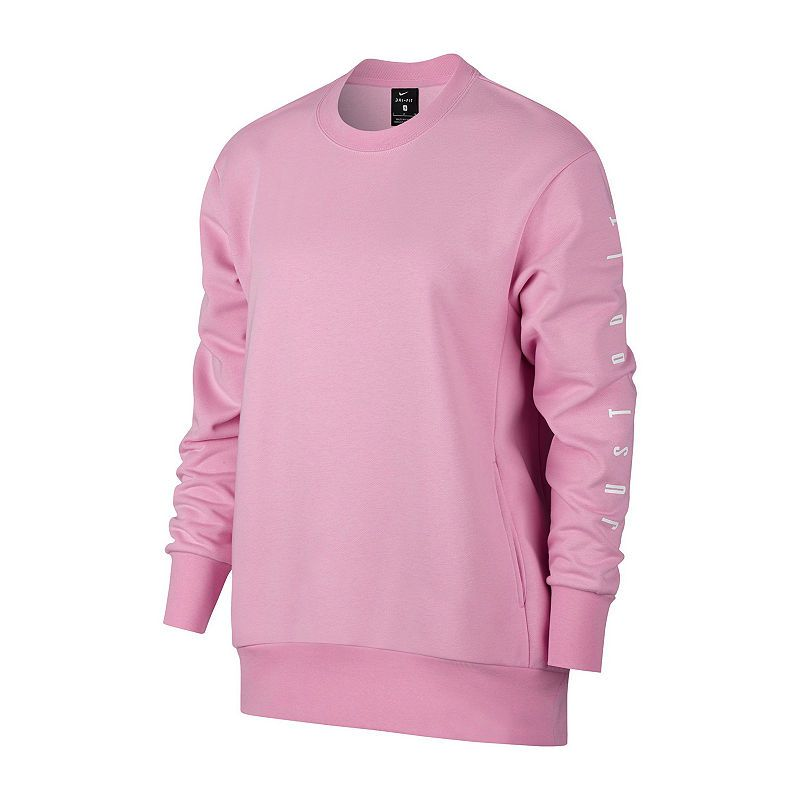 Nike Jdi Graphic Pullover Womens Crew Neck Long Sleeve