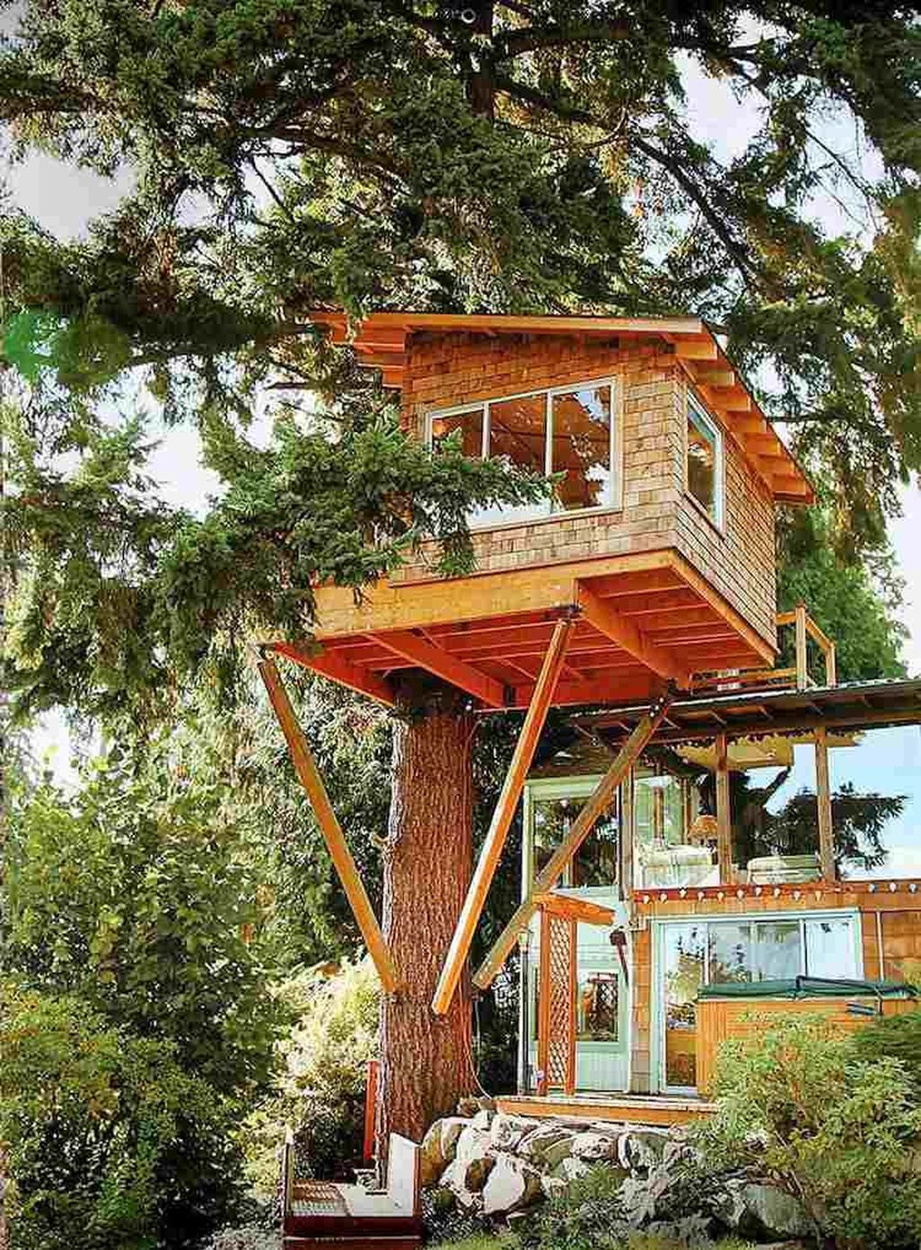 Nice 46 Awesome Treehouse Masters Design Ideas Will Make Dream More At Https Homishome Com 2018 08 07 46 A Cool Tree Houses Tree House Kids Tree House Plans Backyard treehouse treehouse ideas