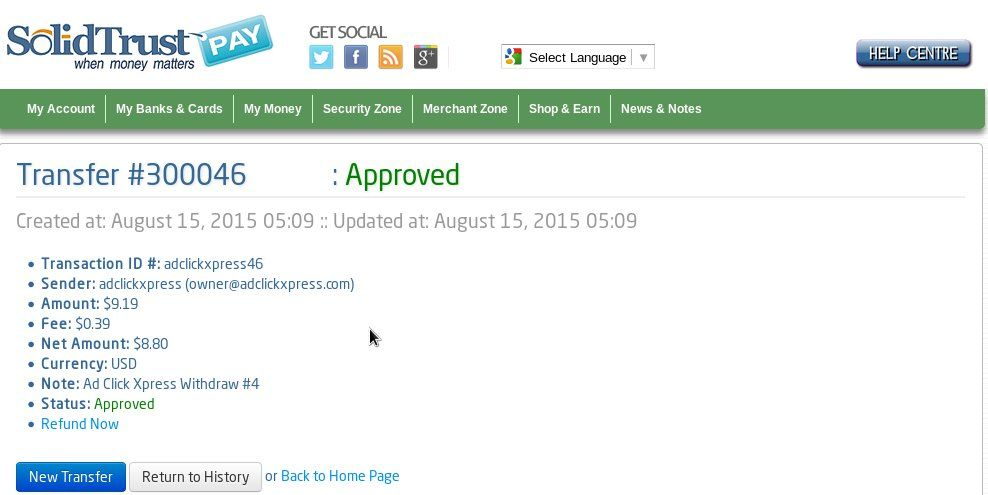 Here is my Withdrawal Proof from AdClickXpress.The best way to make money online is ACX. I WORK FROM HOME less than 10 minutes and I manage to cover my LOW SALARY INCOME. If you are a PASSIVE INCOME SEEKER, then AdClickXpress (Ad Click Xpress) is the best ONLINE OPPORTUNITY for you. http://www.adclickxpress.com/?r=vladankg&p=w2