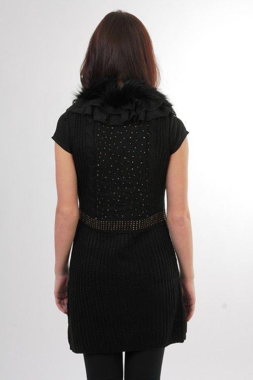 Жилетка черная 6013 Размеры: 42,44 Цена: 1050 руб.  http://optom24.ru/zhiletka-chernaya-6013/