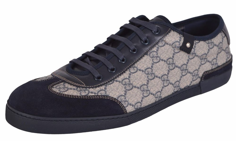 d711fda56b0 NEW Gucci 204282 GG Plus Coated Canvas Suede Sneakers Trainers Shoes 13 G # Gucci #AthleticSneakers