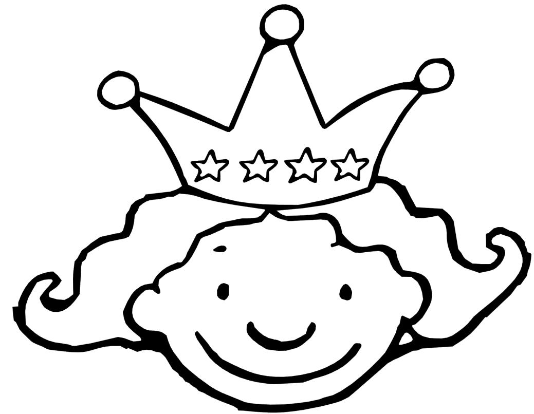 kroon 4 jaar kleurplaten thema verjaardag