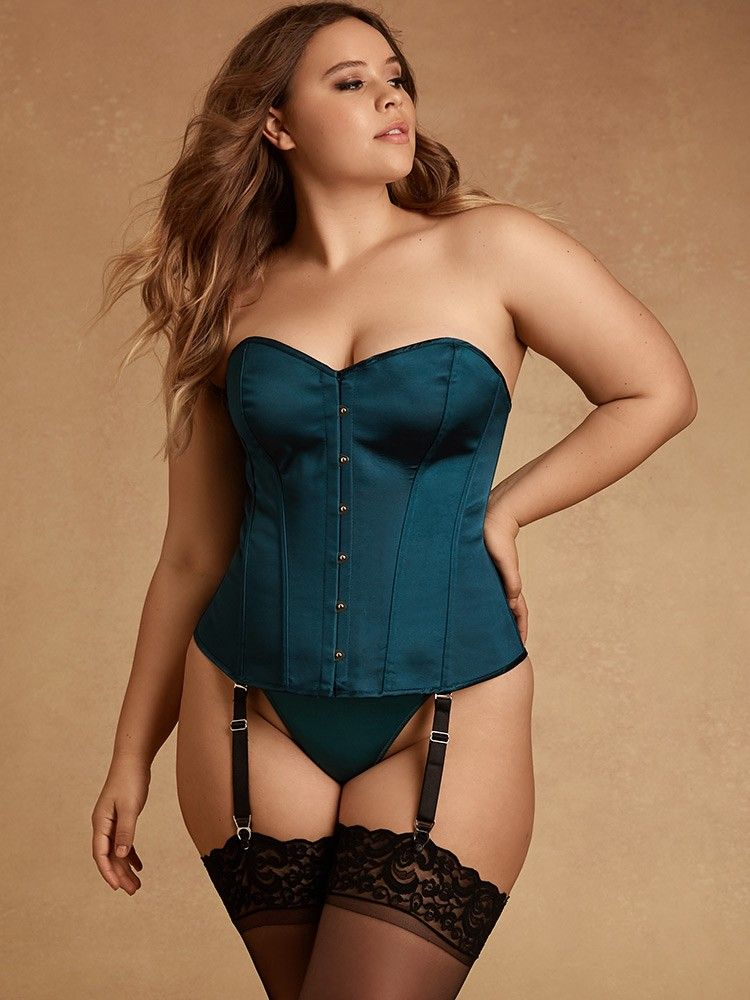 e05ff7150 Hips And Curves Aria Satin Corset - Emerald Large