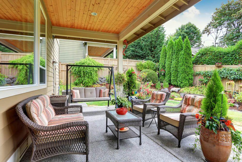Concrete Slab Costs Outdoor Patio Decor Patio Design Backyard Decor