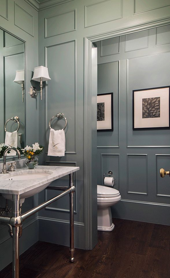 Powder Room, Colonial Style Custom Home in Atherton, CA -