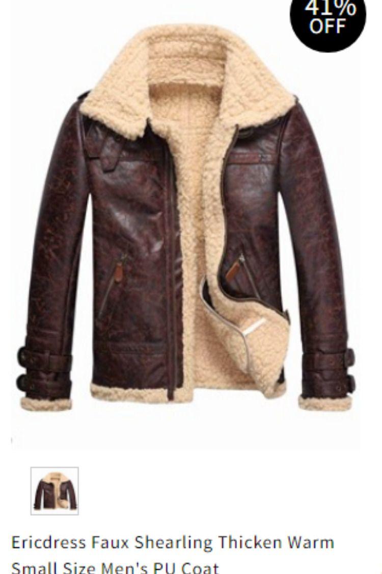 edffcef47f1 Faux Shearling Thicken Warm Small Size Men s PU Coat Item Code  12922979  Model Slim