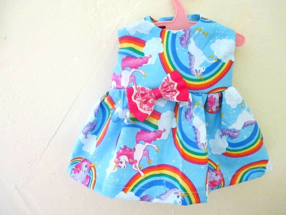 13 Baby Alive Doll Clothes Dress Rainbows Unicorns Blue12 13 Baby Alive Doll Clothes Baby Alive Dolls Baby Alive