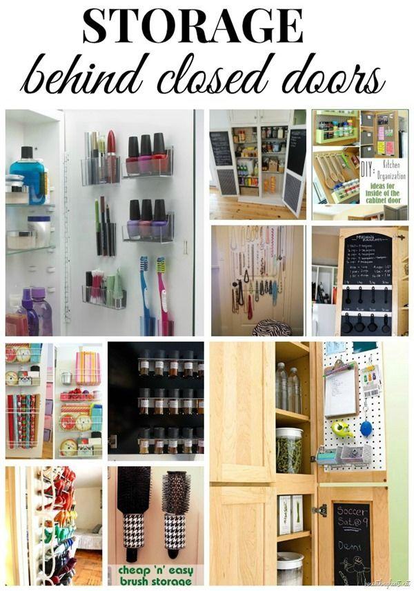 storage behind closed doors organization storage deocrating rh pinterest com