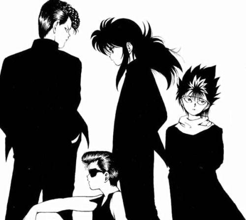 .edit Yu Yu Hakusho Hiei Yusuke Urameshi Kurama Kazuma