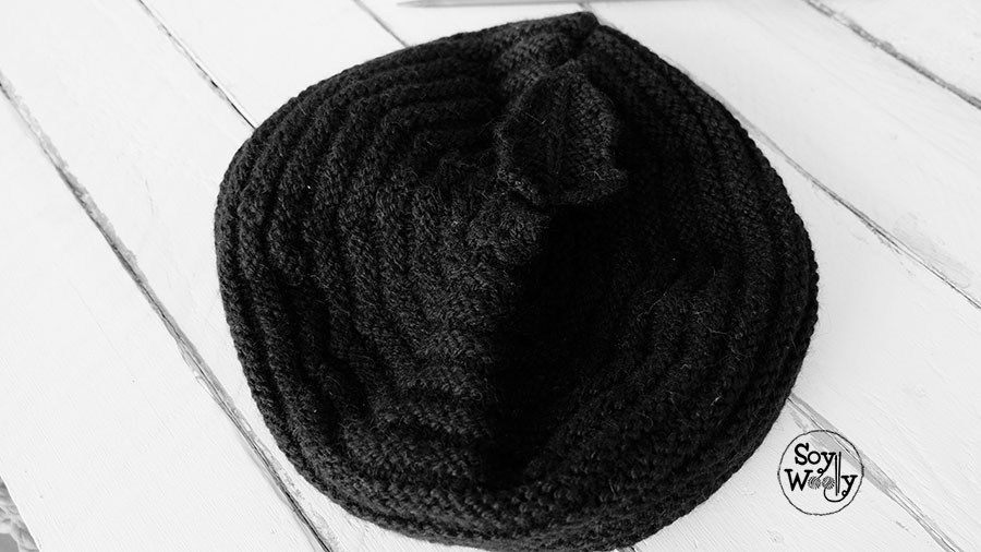 Boina fácil tejida en dos agujas rectas (no circulares | hortalizas ...