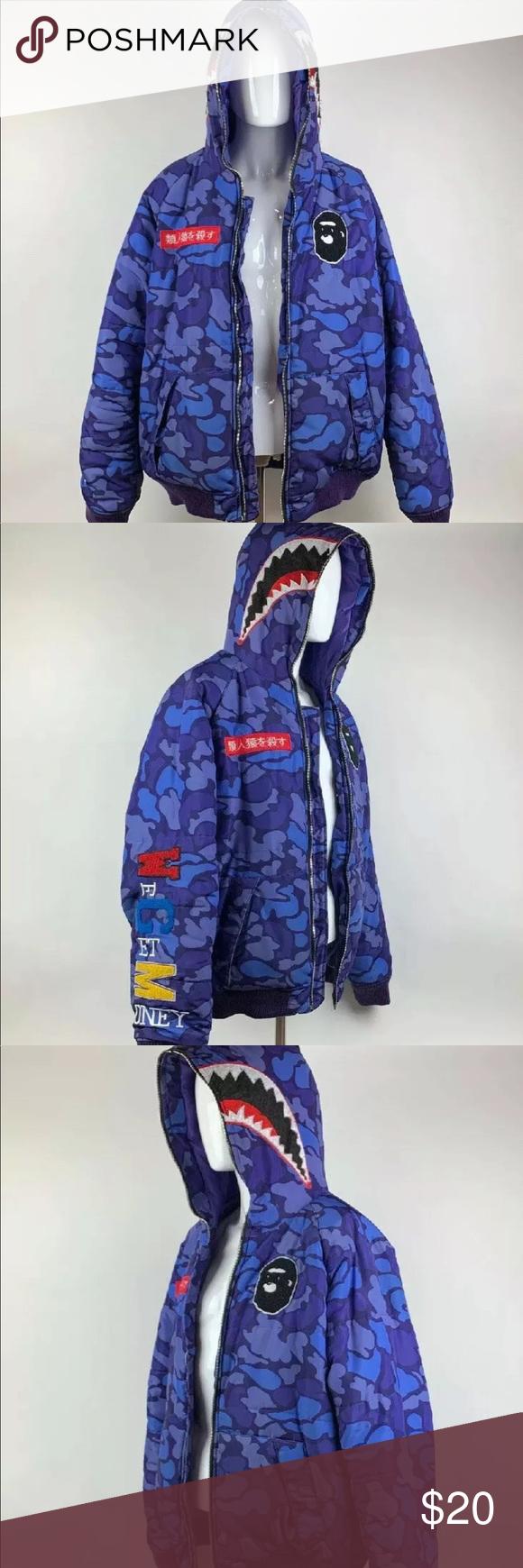 Hudson Outerwear Men S Winter Coat Purple Camo Gorilla Shark Mouth Coat Coat Is In Great Condition But The Front Zippe Winter Coat Mens Winter Coat Outerwear [ 1740 x 580 Pixel ]