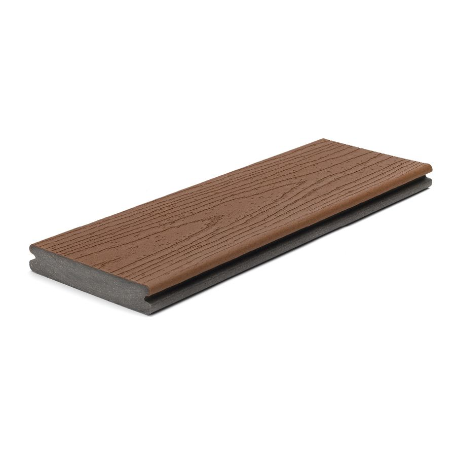 Trex Enhance Saddle Groove Composite Deck Board Actual 0 94 In X 5 5 In X 12 Ft Composite Decking Boards Trex Enhance Composite Decking
