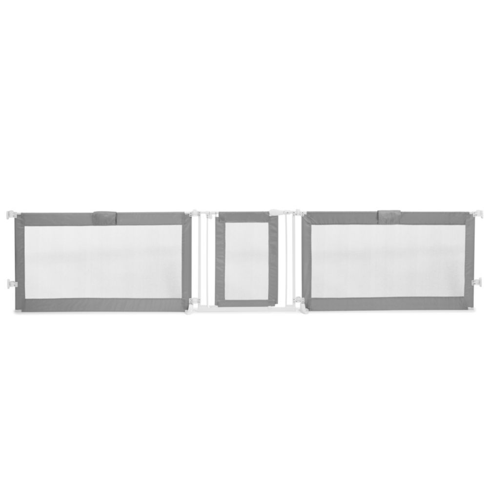 Custom Fit Gate Grey Baby Gates Extra Wide Baby Gate