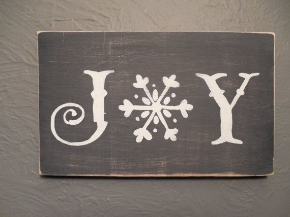 Joy Wood Sign Christmas Winter Signs