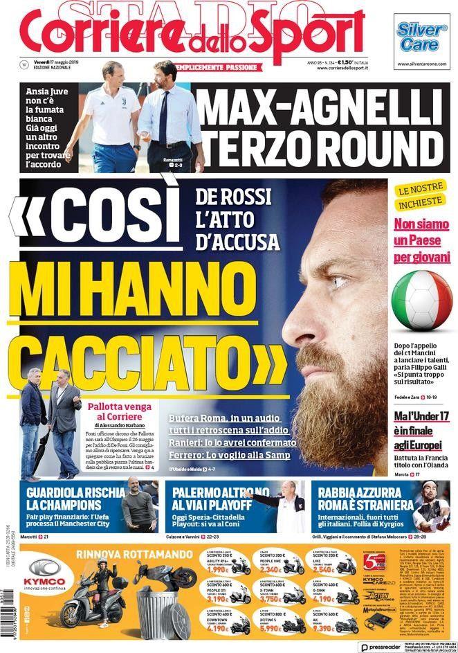 Corriere dello Sport (17 de mayo de 2019) Portadas de