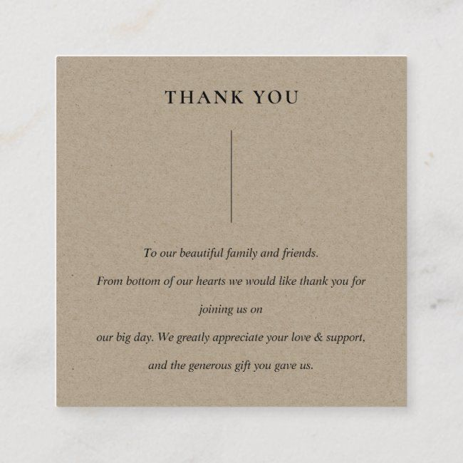wedding thank you cards // simple chic modern desi