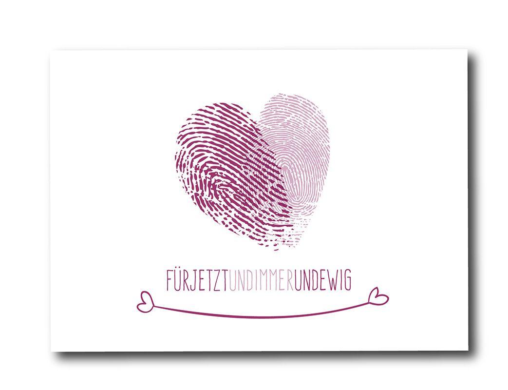 Einzigartig Bild Fingerabdruck Foto Von *für Immer Und Ewig* Karte Mit Einem