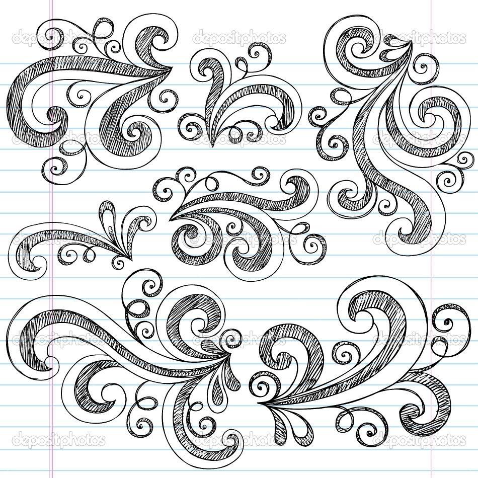 Easy Doodle Art Designs : Design elements doodle art artsy patterns prints