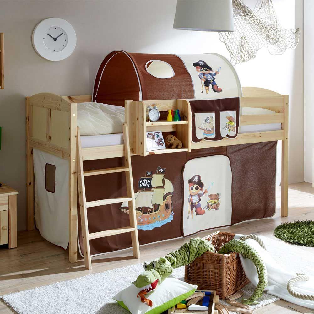 Piratenbett in Braun-Beige Piraten Design Jetzt bestellen unter ...