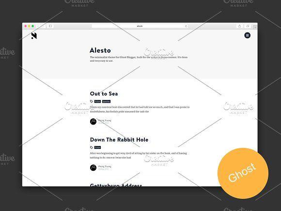 Alesto - The Minimalist Ghost Theme by Pozi Design on