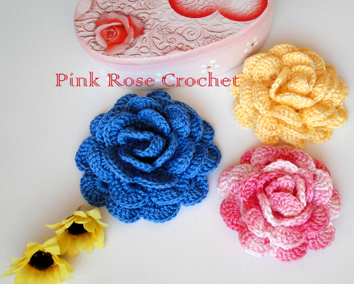 Crochet. ROSE (3) (700x563, 862KB)   tejido   Pinterest   Tejido y ...
