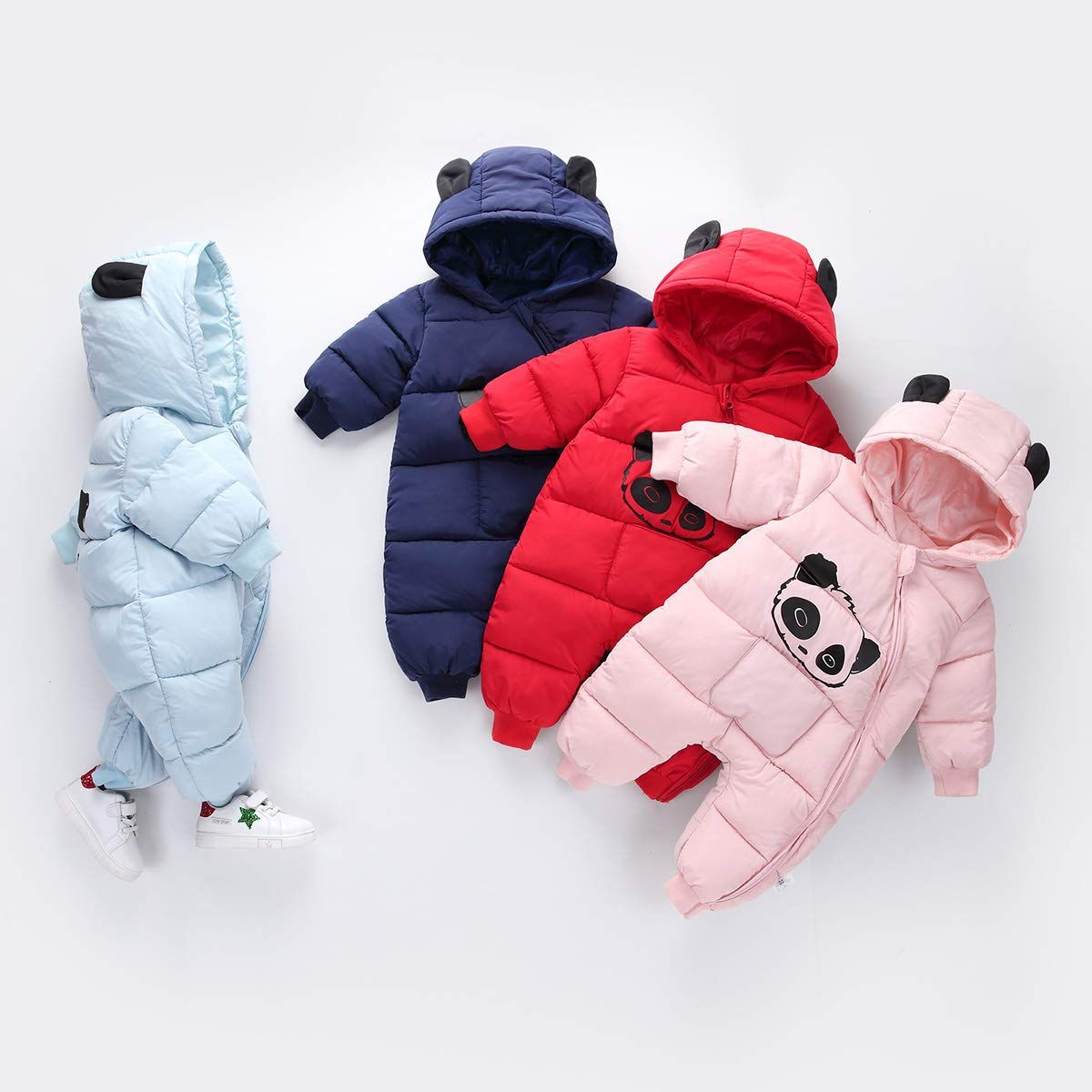 Ex Chain-store Newborn Baby Toddlers Faux Fur Snowsuit Boys Girls Kids